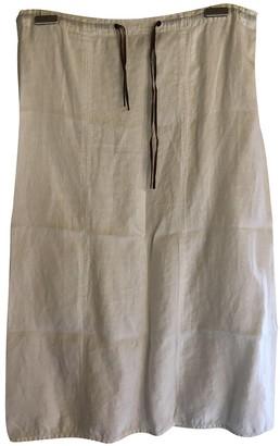 Emporio Armani White Linen Skirt for Women