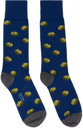 Paul Smith 50th Anniversary Blue Apple Archive Socks