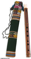Fair Trade Peruvian Quena Flute with Case, 'Song of the Andes'