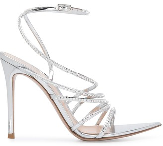 Gianvito Rossi Crystal-Embellished Strap Sandals