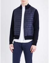 Corneliani Contrast-sleeve Quilted Bomber Jacket
