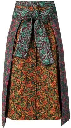Henrik Vibskov floral print contrast skirt