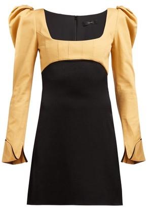 Ellery Heritage Puff-sleeve Dress - Womens - Black Multi