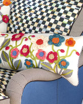Mackenzie Childs MacKenzie-Childs Long Tic-Tac-Posie Lumbar Pillow