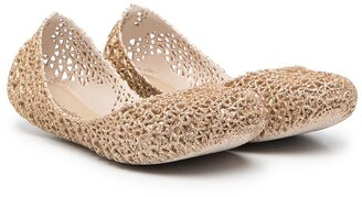 Mini Melissa Woven Ballerina Shoes