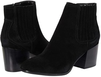 Blondo Sabina Waterproof Bootie (Black Suede) Women's Boots