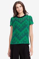 Diane von Furstenberg Albyn Printed Chiffon Tee Shirt