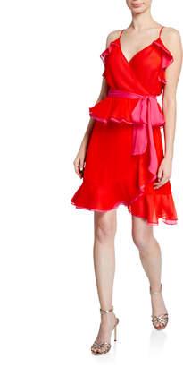 Diane von Furstenberg Karla Sleeveless Ruffle Wrap Dress