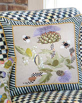Mackenzie Childs MacKenzie-Childs Large Thistle & Bee Square Pillow