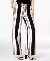INC International Concepts Petite Striped Wide-Leg Pants, Created for Macy's