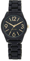 Nine West Matte Rubber Link Bracelet Watch