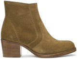 A.P.C. Tan Suede Anna Boots
