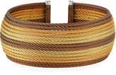 Alor Wide Multi-Row Cable Cuff Bracelet, Yellow/Bronze