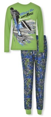 Sleep On It Boys Long Sleeve & Jogger 2-Piece Pajama Set Sizes 6-14