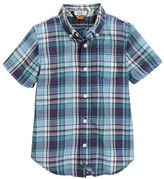 Tailor Vintage Crinkle Plaid Short Sleeve Shirt (Little Boys & Big Boys)