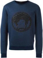 Versace embroidered Medusa sweatshirt - men - Cotton - M