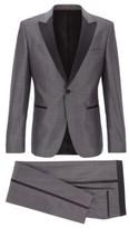 HUGO BOSS - Extra Slim Fit Tuxedo In Virgin Wool With Silk - Grey