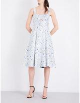 Topshop Sweetheart jacquard dress