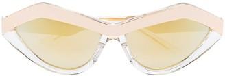 Bottega Veneta Angular Cat-Eye Frame Sunglasses
