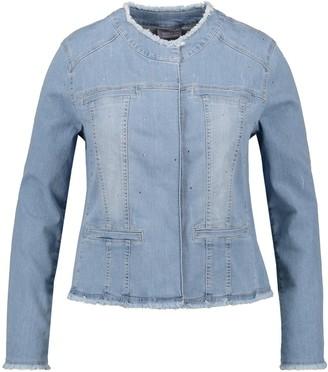 Samoon Women's Jacke Jeans + Gewebe Denim Jacket