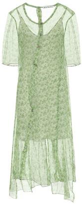 Acne Studios Floral silk chiffon midi dress