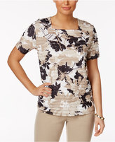 Alfred Dunner Textured Square-Neck Top