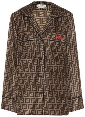 Fendi Printed silk shirt