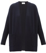 Allude Ribbed-knit Cashmere Cardigan - Womens - Navy