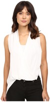 Heather Silk Side Zip Drape Top