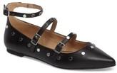 Topshop Women's Arabelle Studded Ankle Wrap Flat