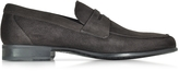 Moreschi Graz Dark Brown Suede Loafer Shoe w/Rubber Sole