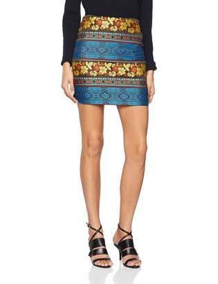 Cuplé Women's Falda Corta Jacquard y Punto Skirt