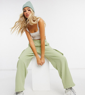 Collusion crop fitted singlet top in ecru