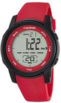 Calypso Unisex Digital Watch with LCD Dial Digital Display and Red Plastic Strap K5698/3