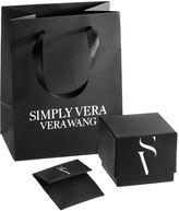 Simply Vera Vera Wang Sterling Silver Blue Topaz & Diamond Accent Halo Pendant
