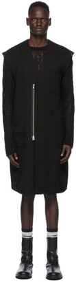 TAKAHIROMIYASHITA TheSoloist. Black Wool Sleeveless Doctor Jacket