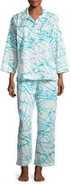 Natori Abstract Butterfly Pajama Set, White