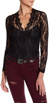 Romeo & Juliet Couture Long Sleeve Lace Ladies Bodysuit