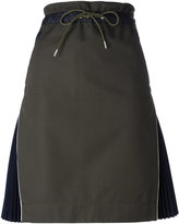Sacai side pleat skirt