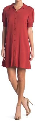 MSK Smocked Challis Shirt Dress