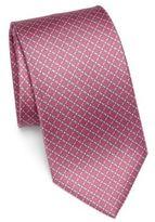 Salvatore Ferragamo Medallion Printed Silk Tie