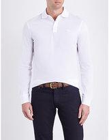 Ralph Lauren Purple Label Long-sleeved Cotton-piqué Polo Shirt