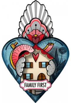 Miho Unexpected Things - Exvoto Family First Decorative Heart