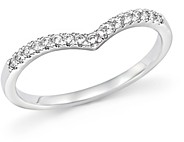 Bloomingdale's Diamond Micro Pave Stackable Chevron Band in 14K White Gold, 0.10 ct. t.w. - 100% Exclusive
