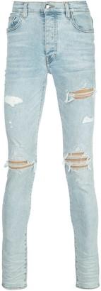 Amiri Distressed Skinny Fit Jeans