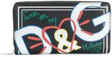 Dolce & Gabbana graffiti zip around wallet