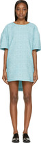 Viktor & Rolf Mint Tweed Jacquard Short Sleeve Dress