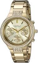 CARAVELLE NEW YORK Women's 44L179 Analog Display Quartz Gold Watch