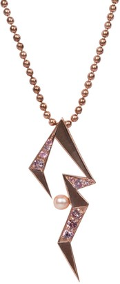Cristina Cipolli Jewellery Snaketric Edgy Pendant Necklace Pink