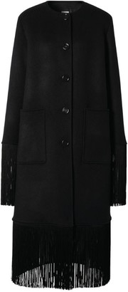 Burberry Fringed Wool-Cashmere Car Coat